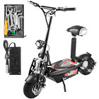 Folding Electric Scooter with Large Wheels Powerful 36v 1000w Motor Black