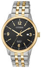 Citizen Men's Quartz Calendar Date Black Dial Two-Tone 40mm Watch BI1054-80F