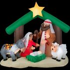 Inflatable Nativity Scene Christmas Outdoor Lighted Decoration 7ft Garden Decor