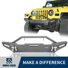 Hooke Road Front Bumper w/ Spotlight & Winch Plate for Jeep Wrangler YJ TJ 87-06