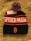 Official Marvel Spiderman Beanie With Pom Adult One Size Varsity Red White Black