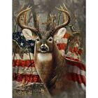 Full Drill DIY 5D Deer US Flag Diamond Painting Kits Art Embroidery Home Decors