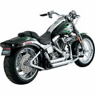 Vance  Hines Chrome Shortshots Staggered Exhaust 1986 2011 Harley Softails