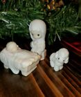 Precious Moments Mini Nativity Mary Baby Jesus Lamb 1982 Jonathan