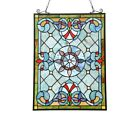 Victorian Design Stained Glass Hanging Window Panel Tiffany Style Home Decor