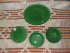 5 PIECE MEDIUM GREEN FIESTA PLACE SETTING-FIESTAWARE     -         w2
