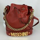 Authentic New Moschino Couture Italian Red Leather Bag
