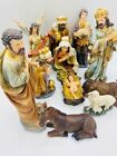 Christmas Nativity Set Scene Figures Polyresin Baby Jesus 12Piece Set Nacimiento