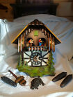 VINTAGE CUCKOO CLOCK WEST GERMANY AS-IS SCHMECKENBECHER MUSICAL EDELWEISS CHALET