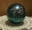 Vintage GES Glass Eye Studio 94 Iridescent Art Glass Round Shaped Paperweight