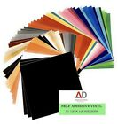 55 Pack Vinyl Sheets Self Adhesive Assorted Colors 12x 12 Sheets Cricut