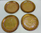 Indiana Glass Company Gold Carnival Glass Bicentennial Plates 1976 Set of 4