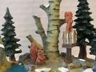Lemax Nosey Squirrels Village Landscape Trees Pond Accent Christmas Village w/bo