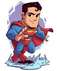 Superman Chibi 2-6 Vinyl Decal Stickers