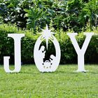 Outdoor Christmas JOY Nativity Scene Sign Set Joy Nativity Yard Lawn Decoration