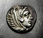 Alexander the Great Stunning Drachm Ancient Greek Silver Coin