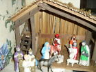 Vintage Sears Nativity Set Made In TAIWAN PLASTIC CELLULOID 13 PC FIGURINES