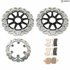Front Rear Brake Rotors Pads for DUCATI 748 916 Monster 1000 S 696 800 Sport 750