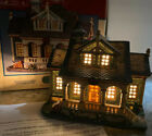 Rare LEMAX Caddington Christmas VILLAGE Oliver House Porch Farmhouse Mint In Box