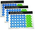 Weight Watchers PointsPlus 2011 Value Stickers Points 3 Sheets 135 pc 2012220