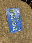 Vintage 1970 s Moped License Plate