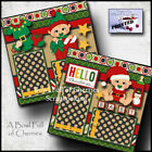 CHRISTMAS BABY 2 premade scrapbook pages paper printed layout santa CHERRY 0113