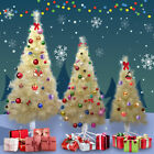 4 5 6 FT Tall Champagne Gold Christmas tree W Solid Stand For Holiday Decoration