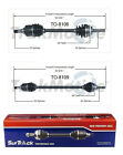 Fits For Toyota Echo Scion xA xB FWD Pair of Front CV Axle Shafts SurTrack Set