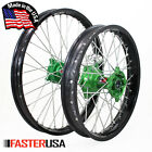 KAWASAKI MOTOCROSS WHEEL SET KX450F 19-20 FASTER USA HUBS PILOT RIMS