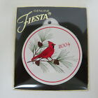 SET OF 6 FIESTA HOMER LAUGHLIN 2004 CARDINAL CHRISTMAS ORNAMENTS, NEW WITH BOXES