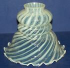 BEAUTIFUL VINTAGE FENTON ART GLASS SPIRAL OPTIC FRENCH OPALESCENT LAMP SHADE 2