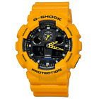 New Casio G-SHOCK Black and Yellow Watch GA100A-9A