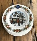 Royal Stafford TOY SHOP Christmas Salad Dessert Accent Plates Set of 4 New