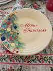 FIESTAWARE MERRY CHRISTMAS TREES LUNCHEON PLATE FIESTA 9 inches