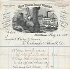 RARE Billhead 1875 Cobanks Theall New York NY Iron Works Steam Engine Ferryboat