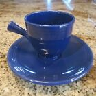 VINTAGE FIESTA COBALT BLUE DEMITASSE CUP & SAUCER  / EXCELLENT CONDITION!