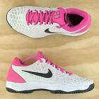 Nike Zoom Cage 3 Nadal HC Hard Court White Pink Tennis Shoes 918193 005 Size