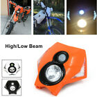 Spot Flood High Low Beam Headlight Fairing Kit 35W Bulb For Kawasaki Suzuki KTM