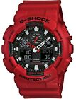 New Casio G-SHOCK Black and Red Watch GA100B-4A