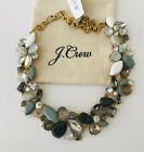 NWT JCrew Factory Authentic Crystal MIXED STONES NECKLACE In Black Grey