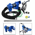 Gasoline Fuel Transfer Pump 12V DC 20GPM For Gas Diesel Kerosene w Nozzle Kit