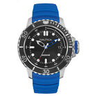 Nautica Men's NMX Dive Style 50mm with Date Blue Silicone Strap Watch