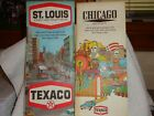 Vintage Texaco Road Maps  Chicago and St Louis