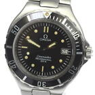 OMEGA Seamaster 200m Date Black Dial W Buckle Quartz Men's Wrist Watch_512961