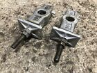 86 Honda CMX450 Rebel Rear Wheel Axle Adjuster Tensioner Set OEM CMX 450 -52