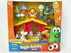 New In Box Veggie Tales Singing Nativity Set Toys Figures Veggie Tales Figurines
