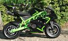 Gas powered mini pocket bike small mini bike 50cc 2 stroke GREEN