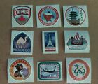 Disney Stickers Lot of 9 Epcot Countries