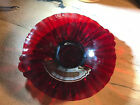 Vintage Viking Red Glass Small Serving Scalloped Plate