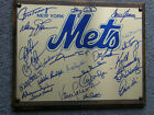 1 OF A KIND NEW YORK METS AUTOGRAPHED GOLD PLATED PLAQUE. SEAVER+MAYS+SNIDER+20